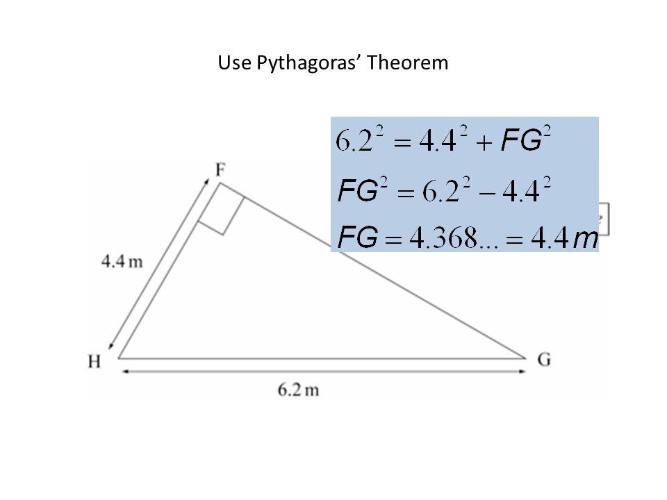 Use Pythagoras' Theorem