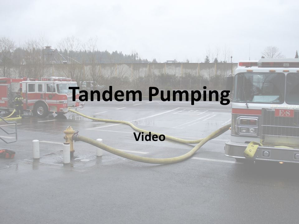 SUPPLY The Third In Engine will connect to the FDC and the Fourth In Engine will supply the Tandem Pumping Evolution through the front suction.