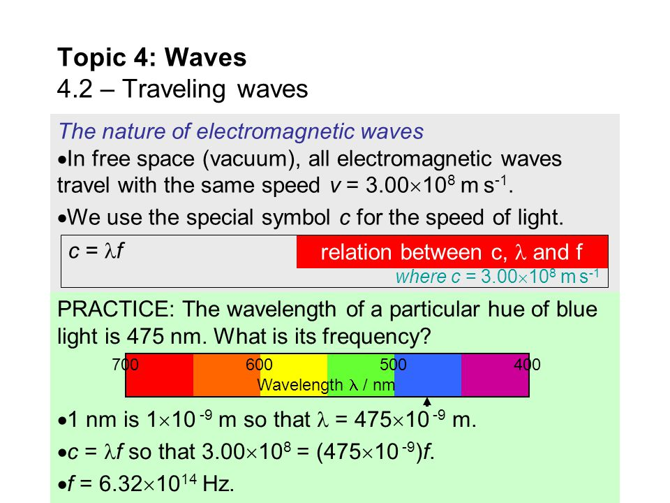 The nature of electromagnetic waves  All of us are familiar with light. But visible light is just a tiny fraction of the complete electromagnetic spe