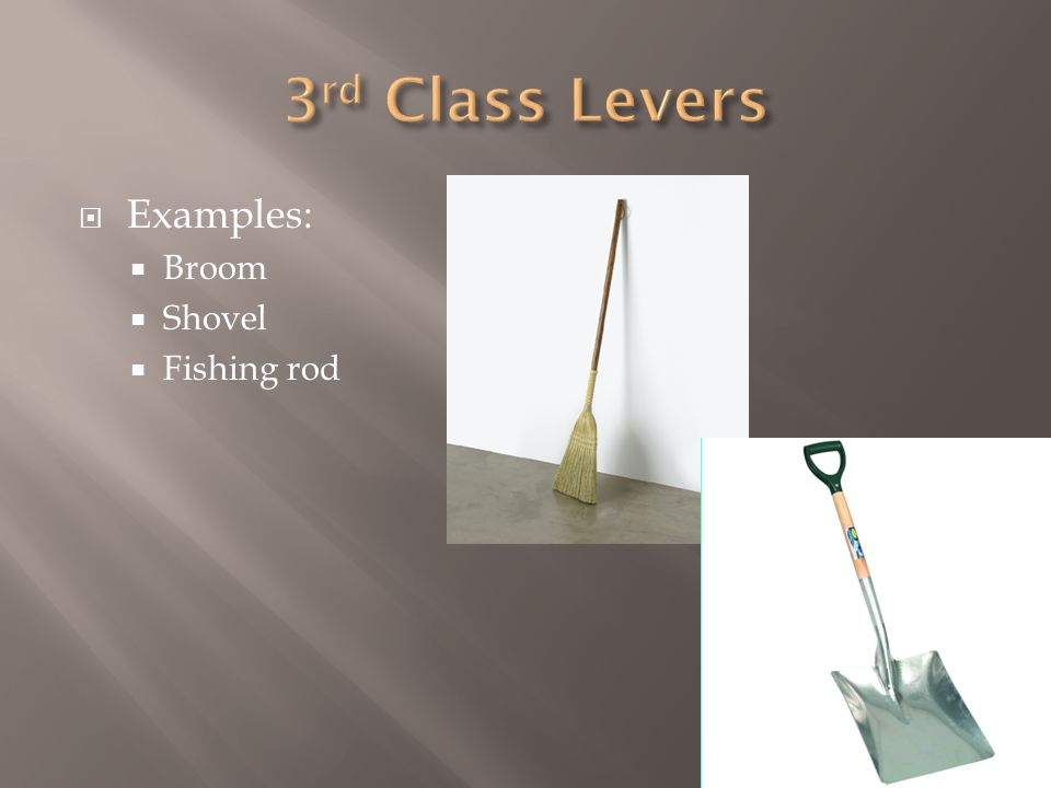  Examples:  Broom  Shovel  Fishing rod