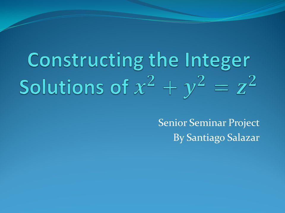 Senior Seminar Project By Santiago Salazar