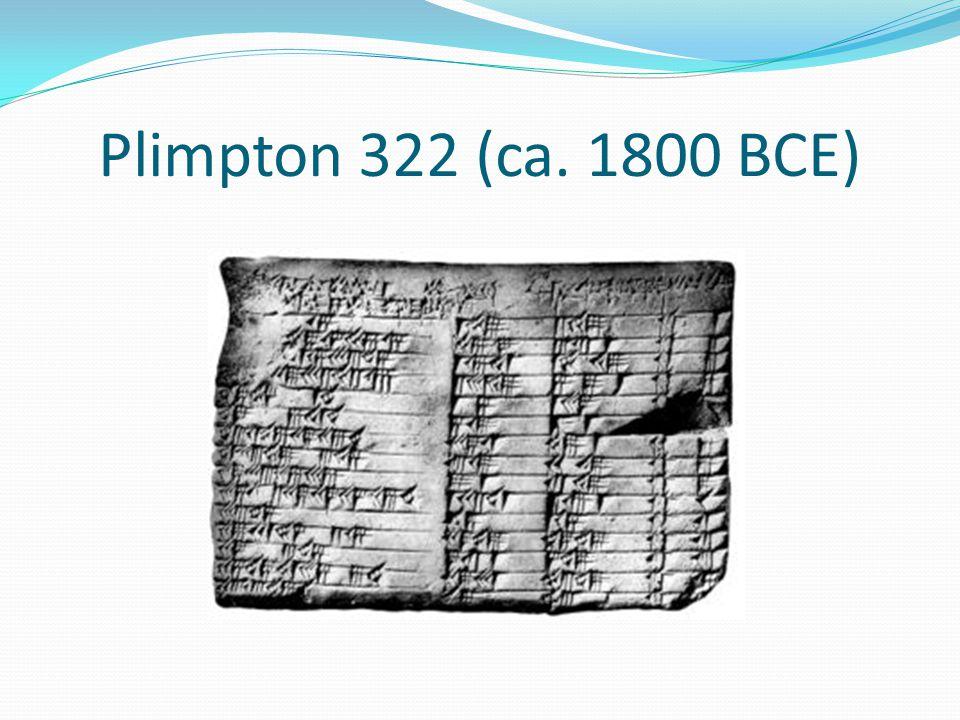 Plimpton 322 (ca. 1800 BCE)
