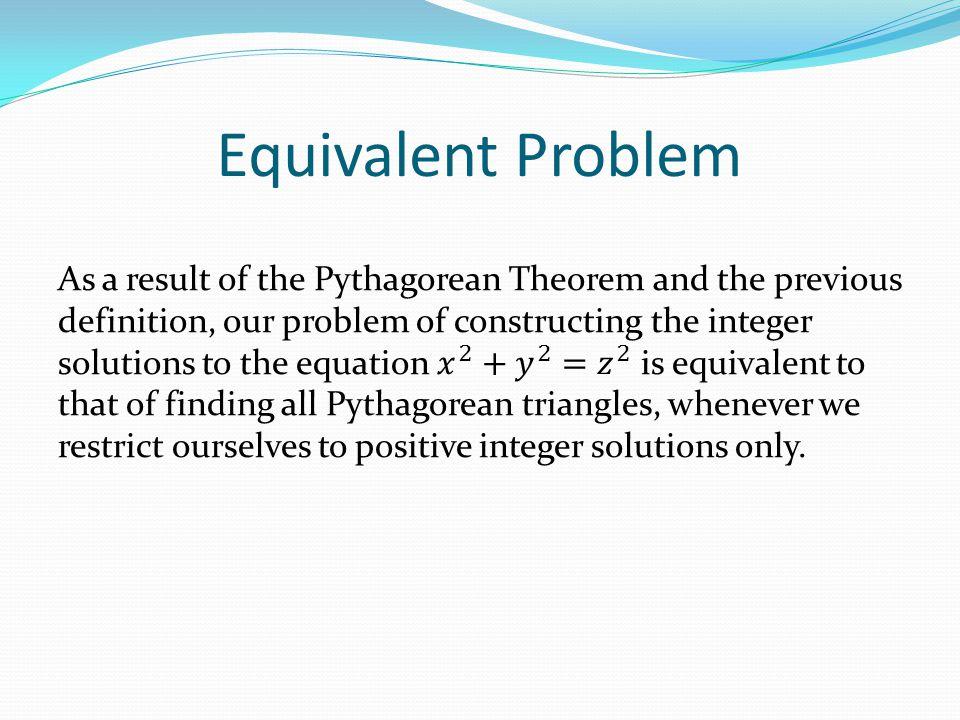 Equivalent Problem