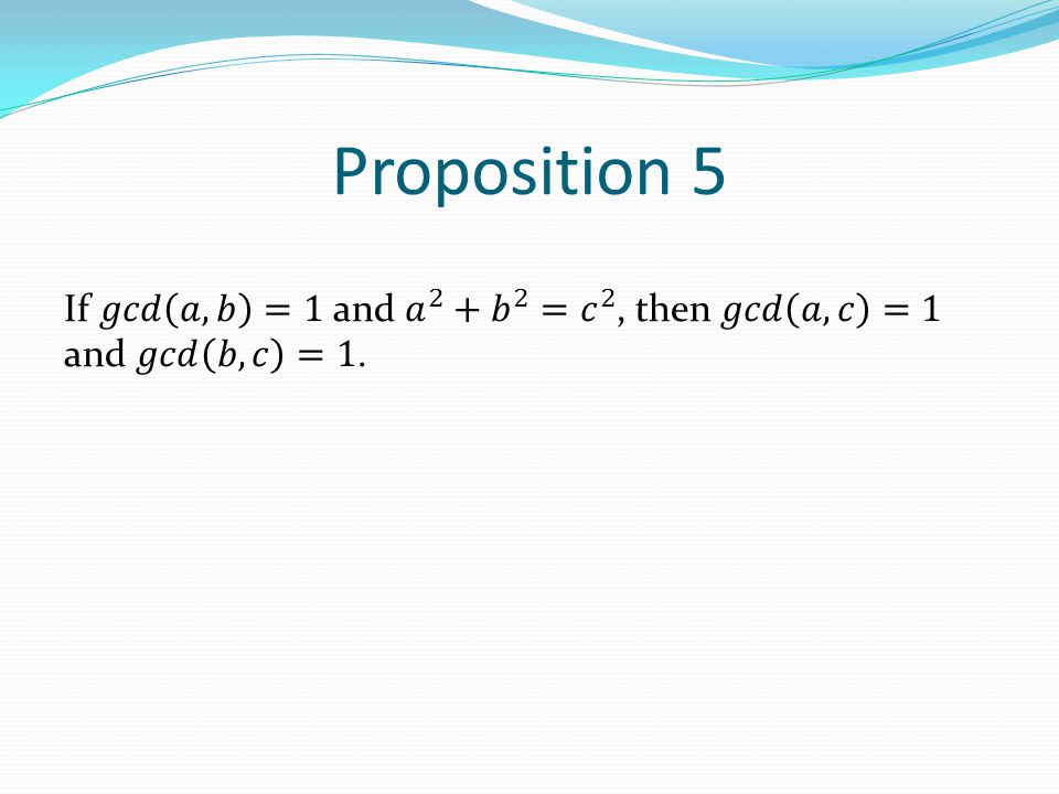 Proposition 5