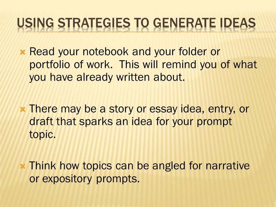  Read your notebook and your folder or portfolio of work.