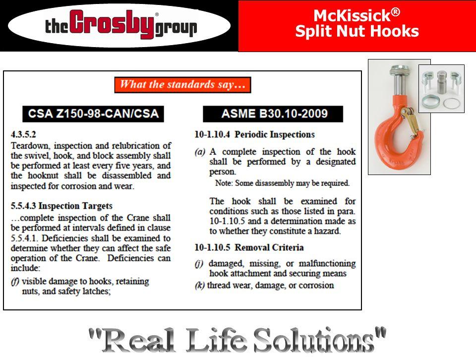 McKissick ® Split Nut Hooks