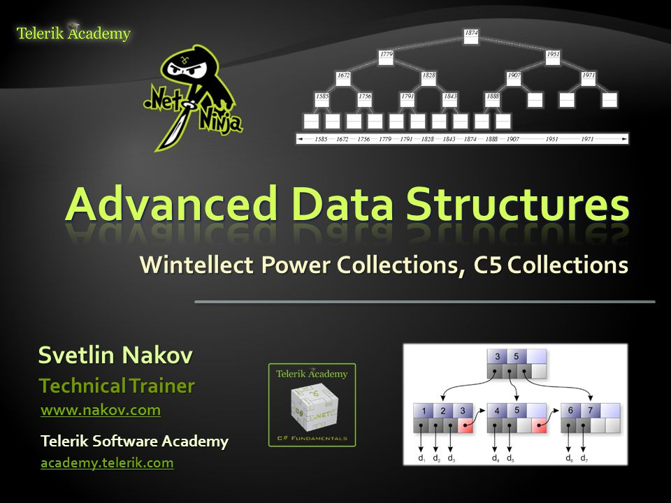 Svetlin Nakov Telerik Software Academy academy.telerik.com Technical Trainer www.nakov.com Wintellect Power Collections, C 5 Collections