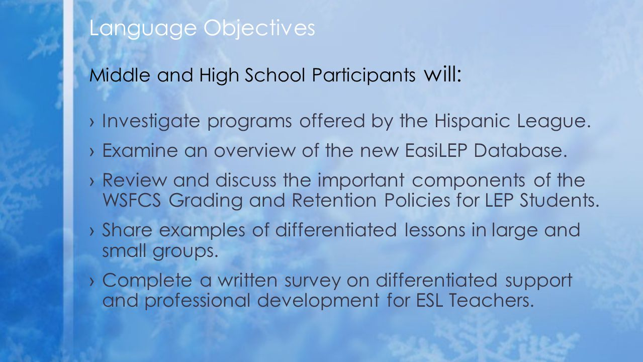 ›Investigate programs offered by the Hispanic League.