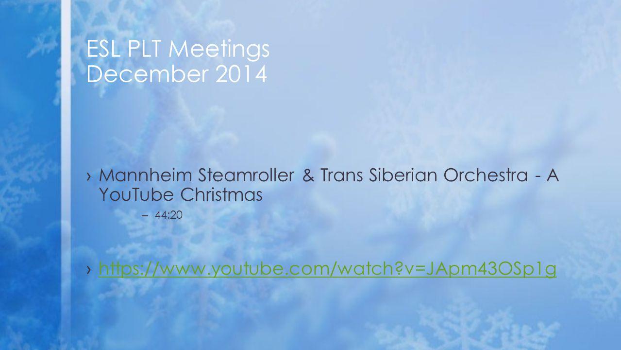 ›Mannheim Steamroller & Trans Siberian Orchestra - A YouTube Christmas – 44:20 ›https://www.youtube.com/watch?v=JApm43OSp1ghttps://www.youtube.com/wat