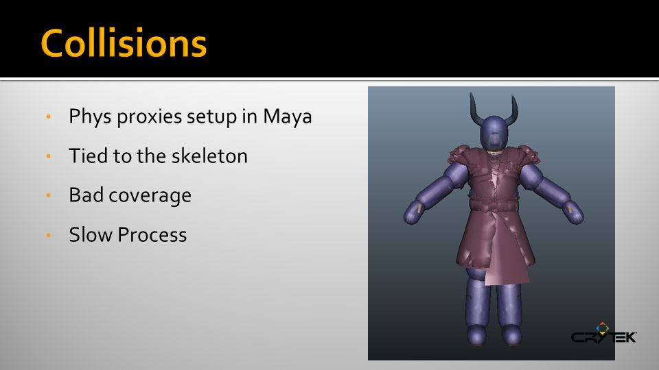 Phys proxies setup in Maya Tied to the skeleton Bad coverage Slow Process