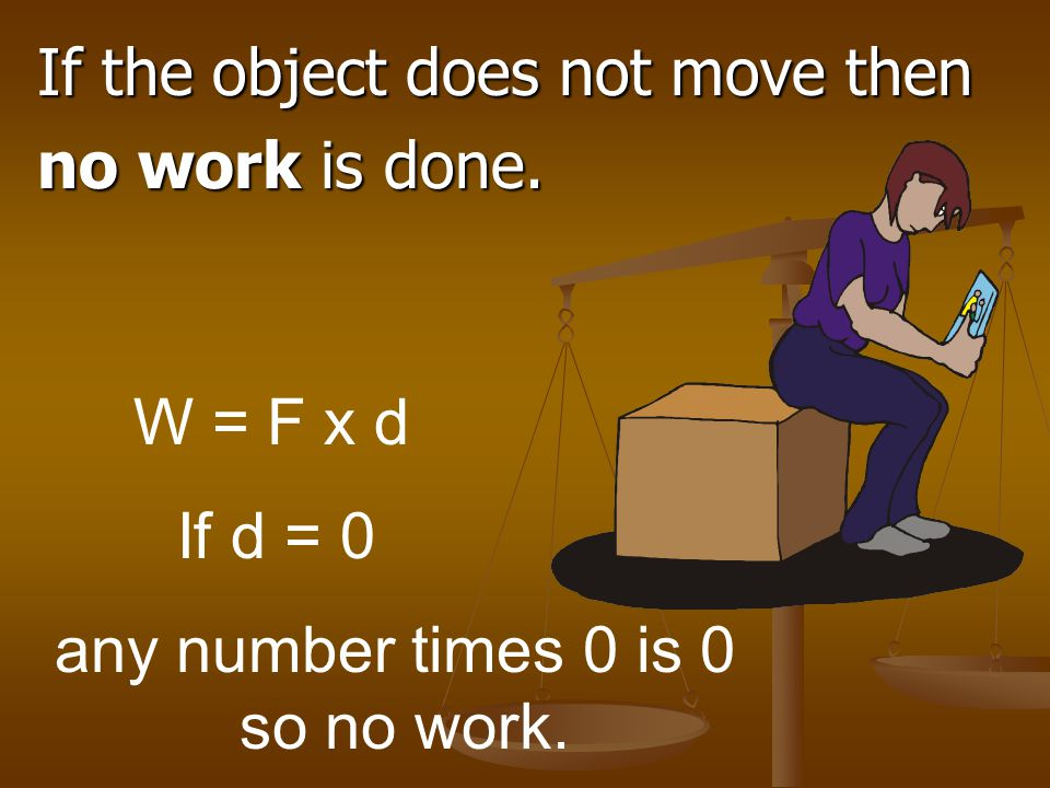 The SI unit for Power is watts (W). work Power = time OR W P = t