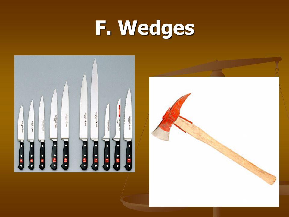 F. Wedges