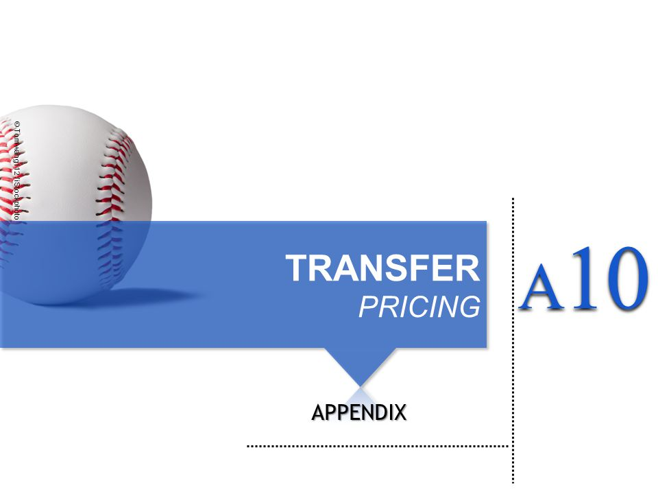 TRANSFER PRICING APPENDIX © Tomwang112 / iStockphoto A 10