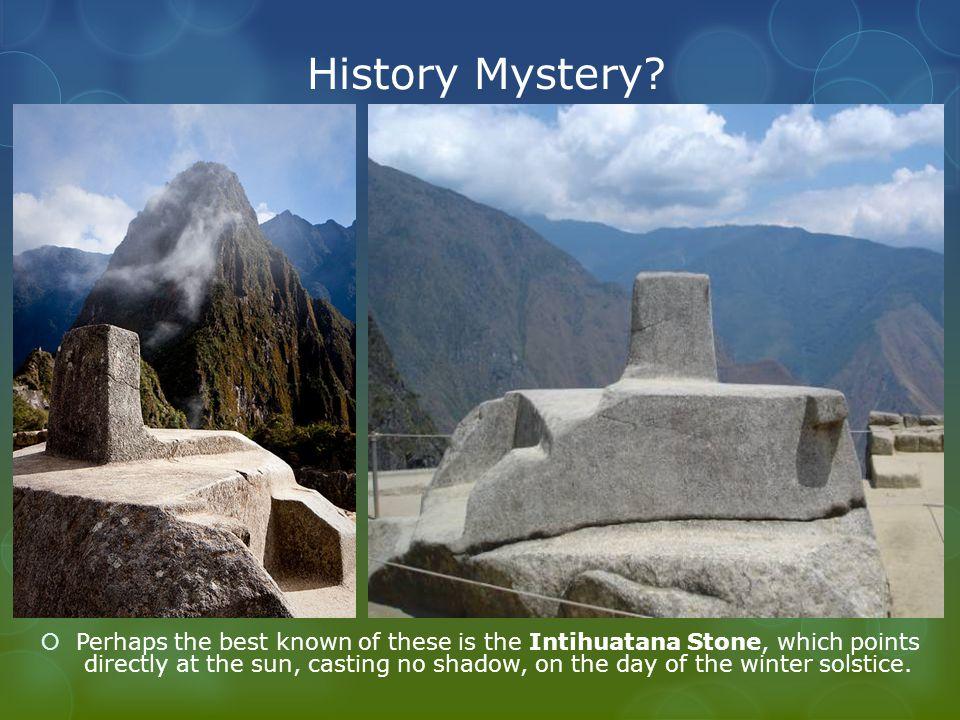History Mystery.
