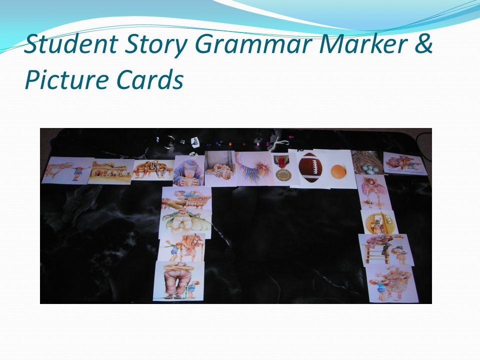 Student Story Grammar Marker & Picture Cards