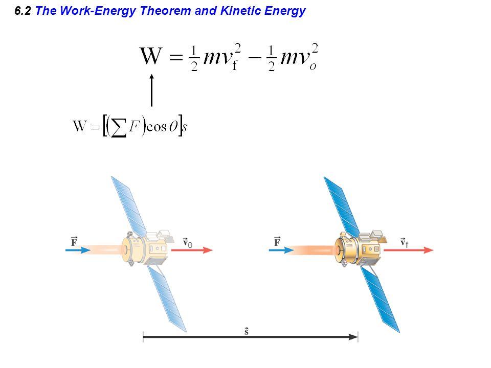 6.2 The Work-Energy Theorem and Kinetic Energy