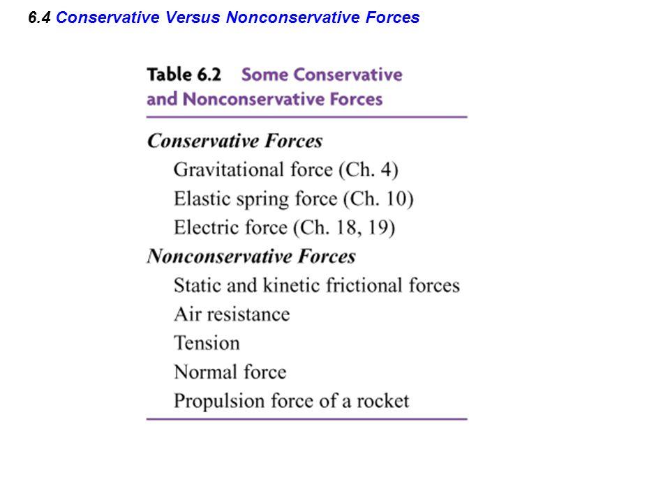 6.4 Conservative Versus Nonconservative Forces