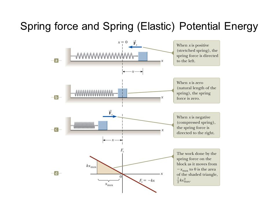 Spring force and Spring (Elastic) Potential Energy