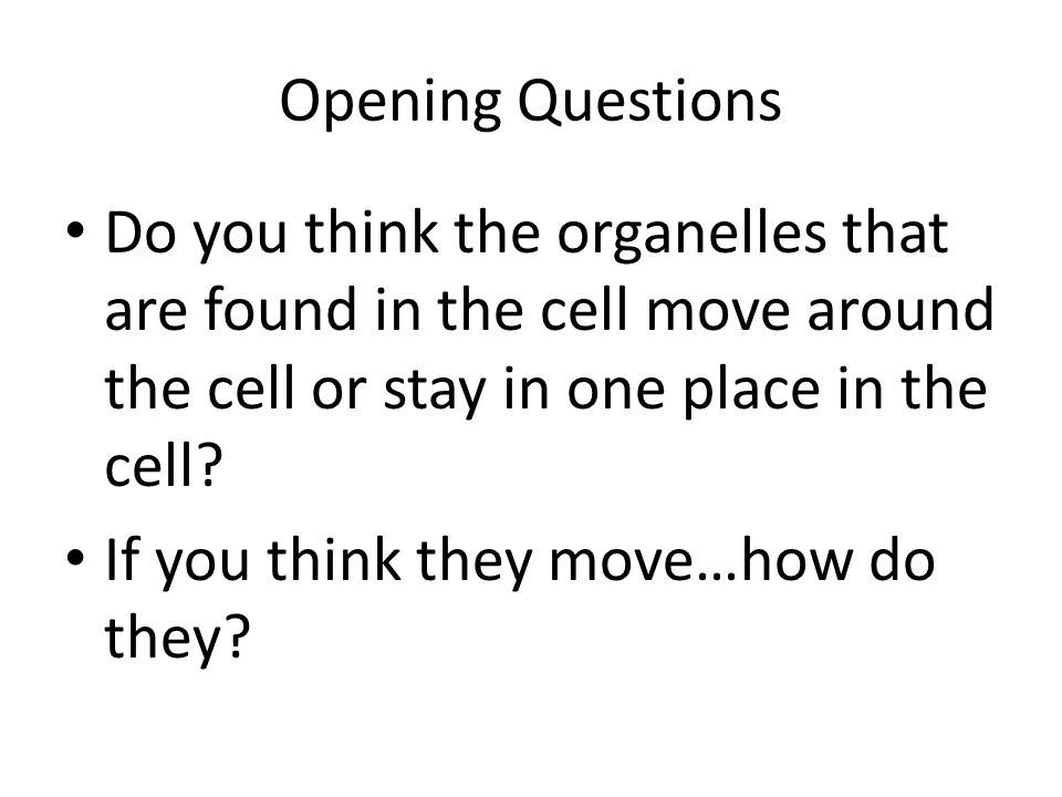 Learning Outcomes Tell what molecules make up the cytoplasm.