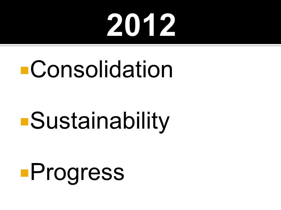  Consolidation  Sustainability  Progress