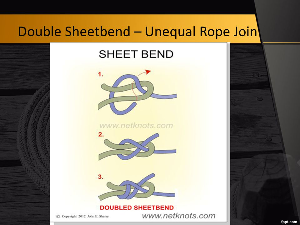 Double Sheetbend – Unequal Rope Join