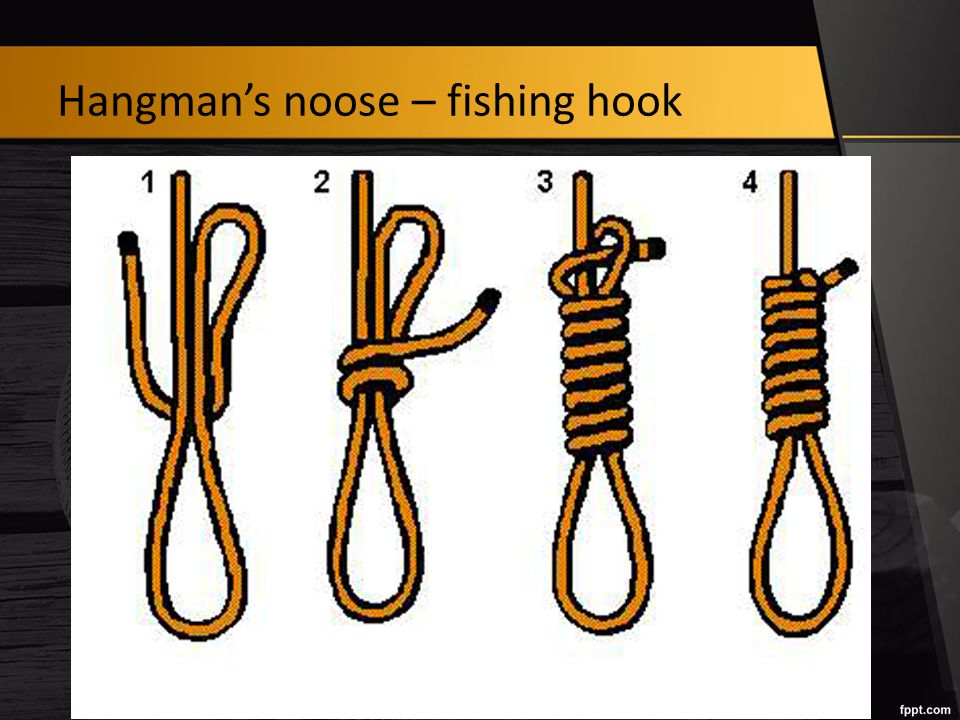 Hangman's noose – fishing hook