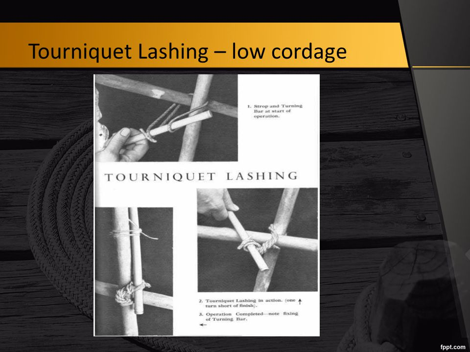Tourniquet Lashing – low cordage