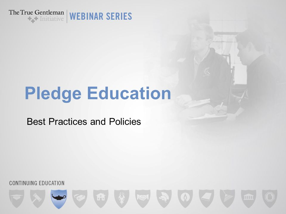Pledge Education Best Practices and Policies