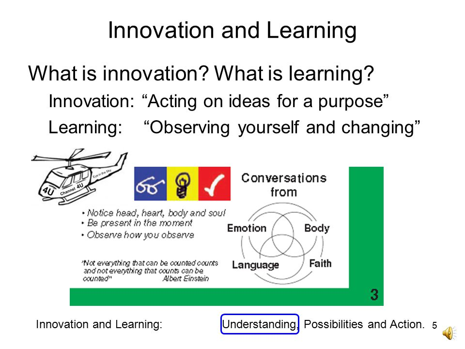 Innovation and Learning What is innovation.What is learning.