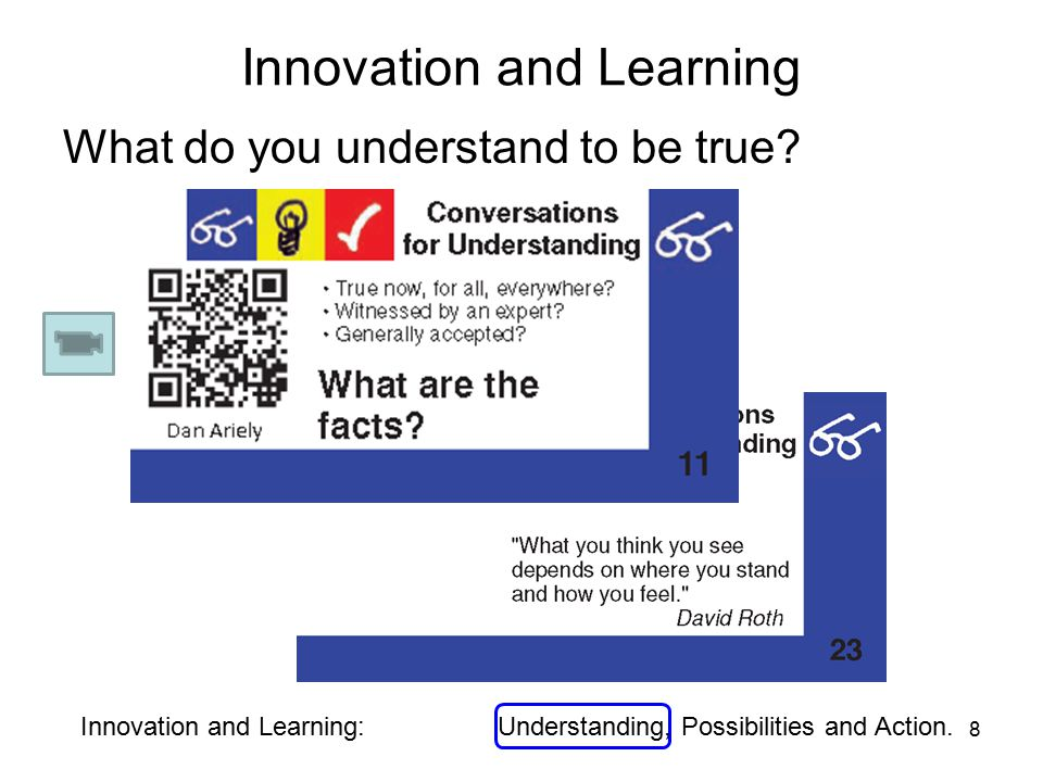 Innovation and Learning What do you understand to be true.
