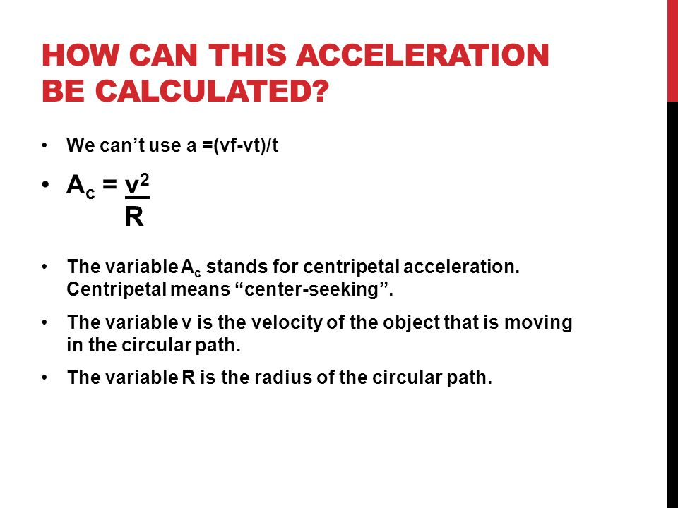 HOW CAN THIS ACCELERATION BE CALCULATED.