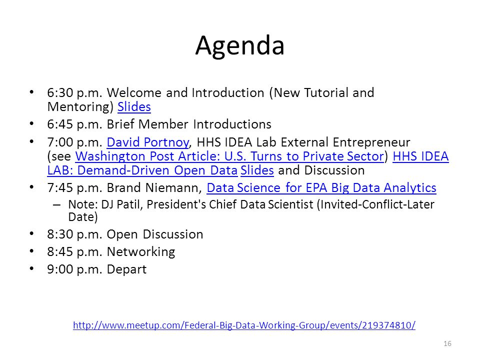 Agenda 6:30 p.m. Welcome and Introduction (New Tutorial and Mentoring) SlidesSlides 6:45 p.m.