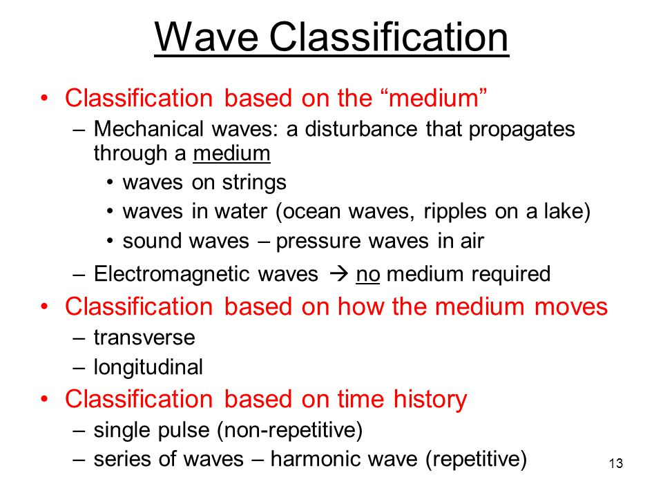 Waves are a means to transport energy from one place to another without transporting matter Electromagnetic waves (light, x-rays, UV rays, microwaves, thermal radiation) are disturbances that propagate through the electromagnetic field, even in vacuum (e.g.