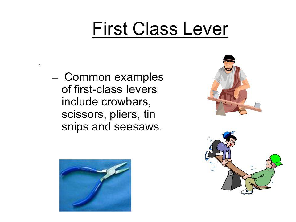 First Class Lever.
