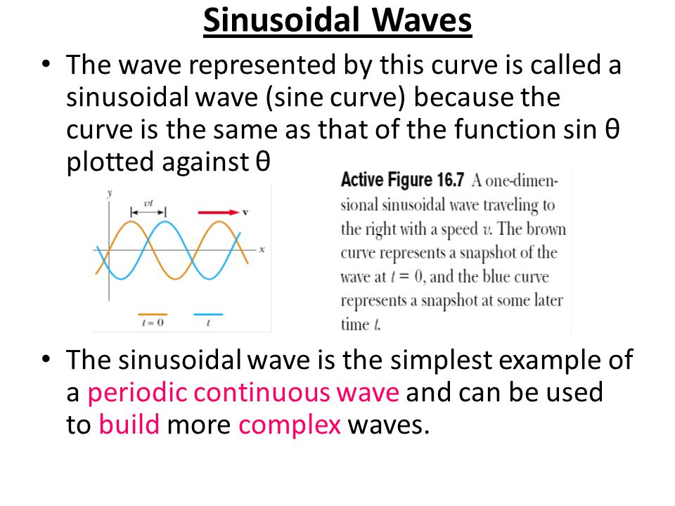 The motion of the wave can be represented by the motion of two curves toward the right The point at which the displacement of the element from its normal position is highest is called the crest of the wave.