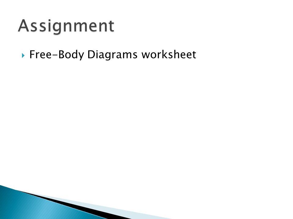  Free-Body Diagrams worksheet