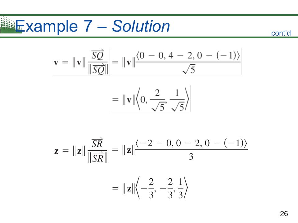 26 Example 7 – Solution cont'd