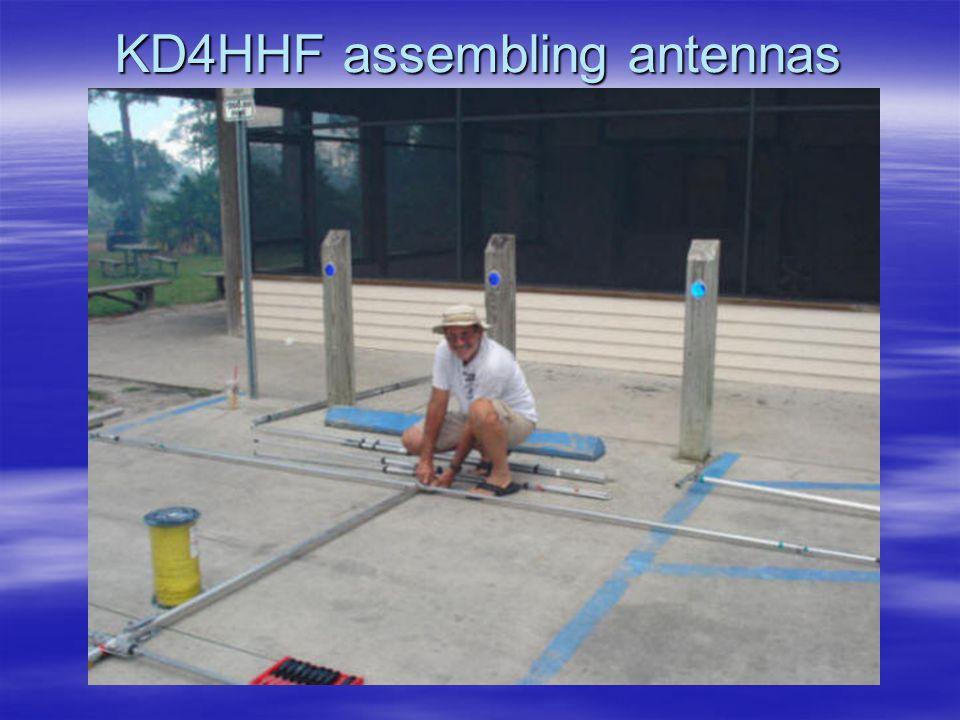 KD4HHF assembling antennas