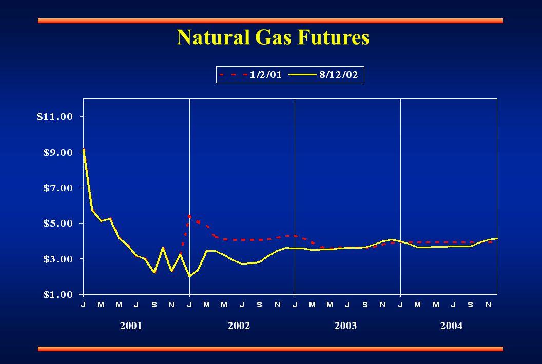 Natural Gas Futures 2001200220032004