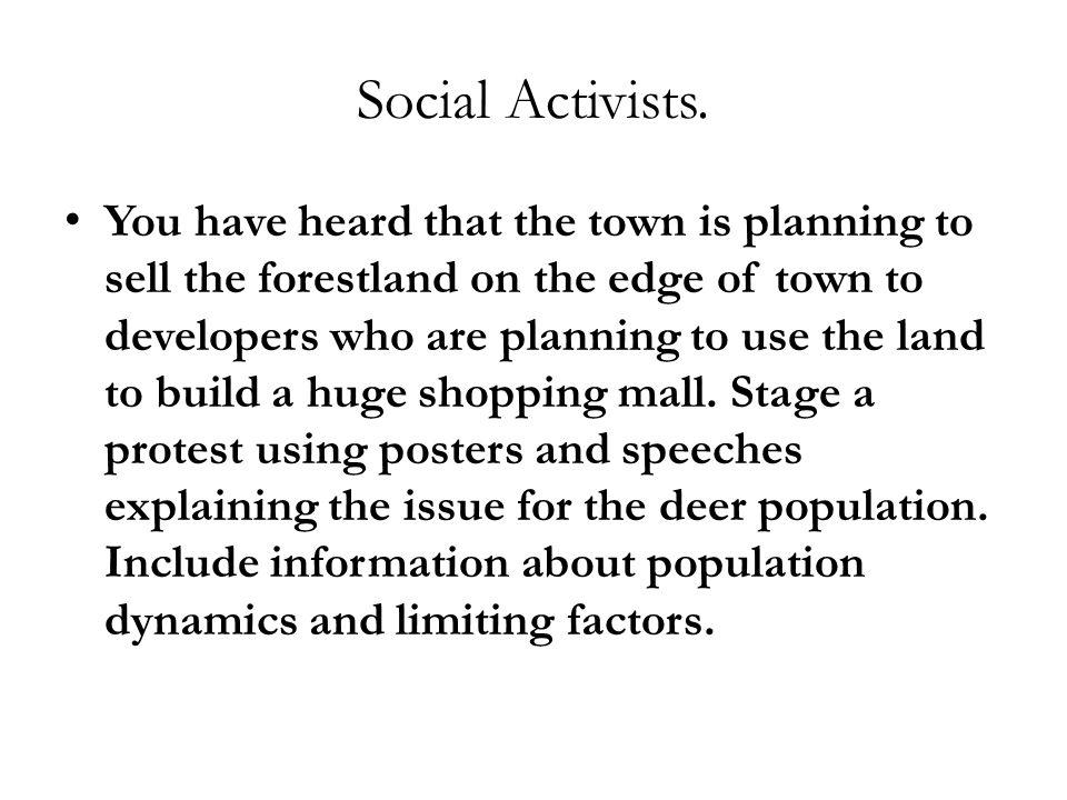 Social Activists.