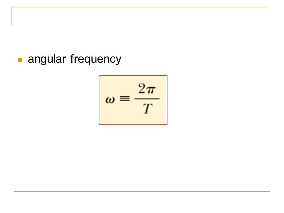 angular frequency