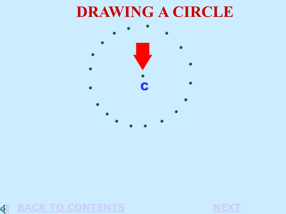 C DRAWING A CIRCLE BACK TO CONTENTSNEXT