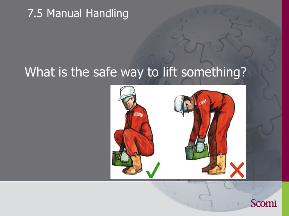 7.4 Safety Observation main unsafe acts Incorrect working practice Unsafe position Incorrect use of PPE Improper, inadequate training Safety observation cards, hand in to supervisor or central point for analysis