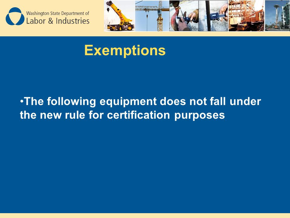 Does not fall under the New standard Cranes with a maximum capacity of one ton or less.