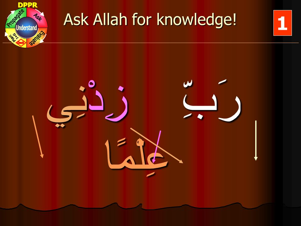 Ask Allah for knowledge.
