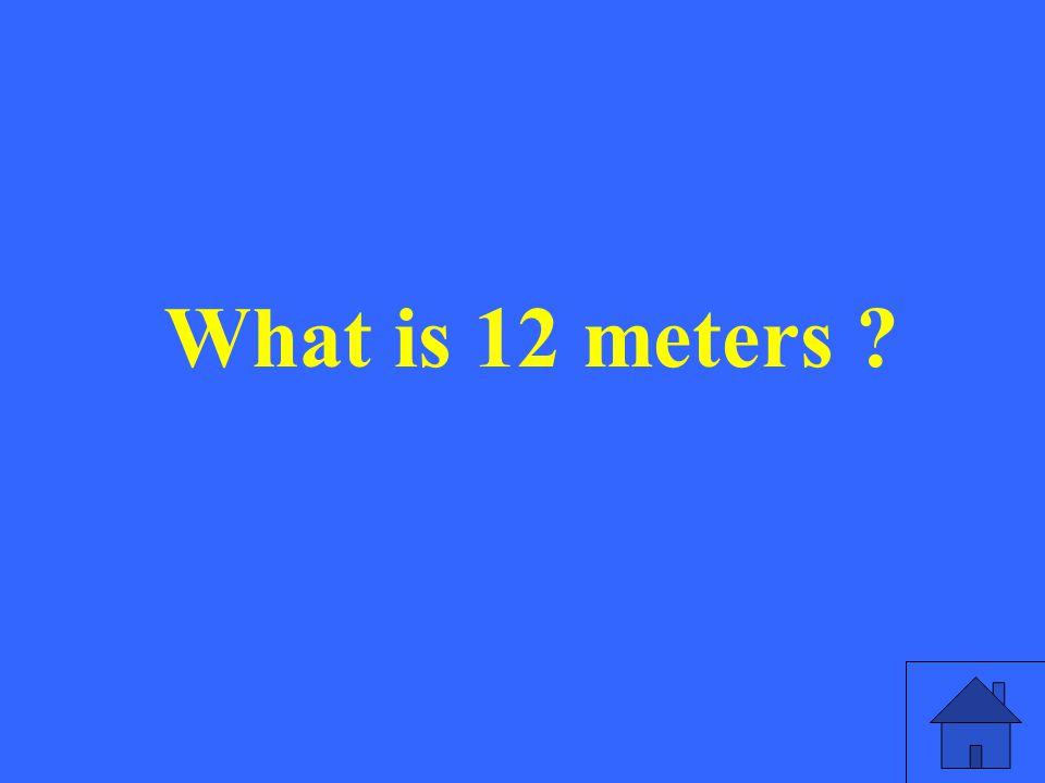 What is 12 meters ?