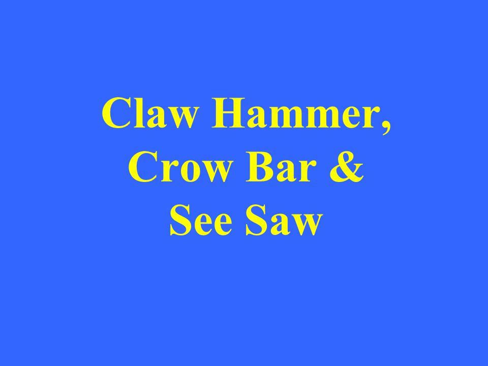 Claw Hammer, Crow Bar & See Saw