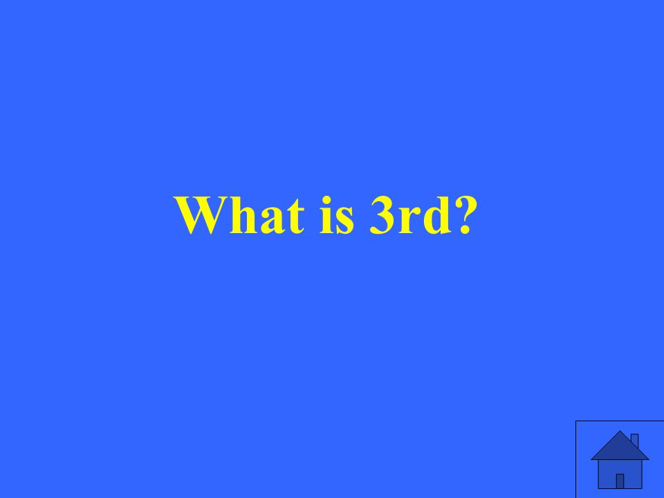 What is 3rd?