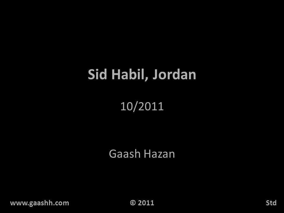 Sid Habil, Jordan 10/2011 Gaash Hazan www.gaashh.comStd© 2011