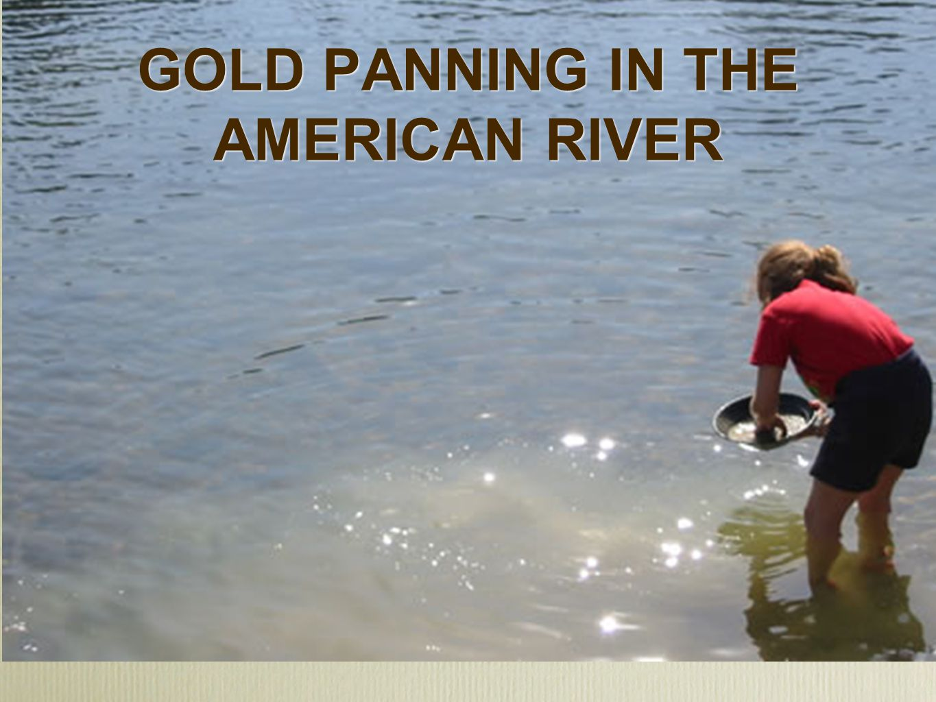 GOLD PANNING IN THE AMERICAN RIVER